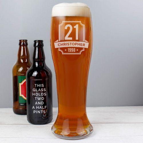 Personalised Big Age Giant Beer Glass